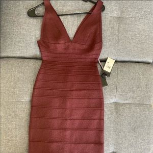 NWT AUTHENTIC HERVE LEGER BODYCON DRESS NEVER WORN